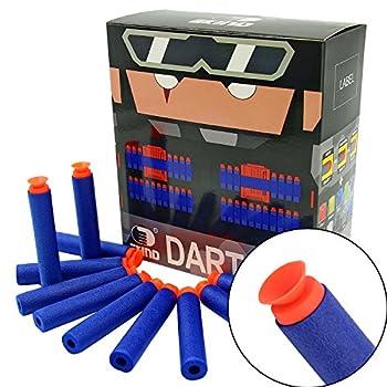 EKIND 100Pcs Suction Darts Refill Foam Bullet Compatible for Nerf Elite Guns  Blue
