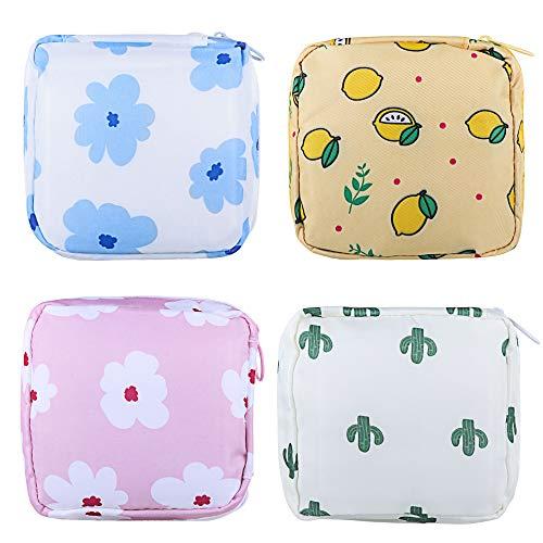 YUKOU 4 Stück Hygienebeutel für Damen und Mädchen (4 Stück)