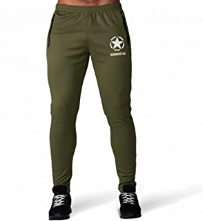 6195534d8be BARKEYO Army Star - Men's Regular Fit Jean Style Jogger Lower Track Pants  for Gym,