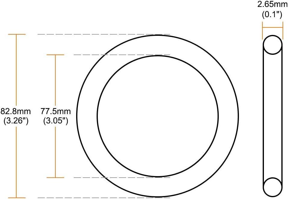 5 unidades Sourcingmap junta t/órica de goma de nitrilo 36,5 mm-87,5 mm de di/ámetro interior 2,65 mm de ancho