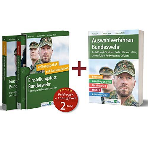 Sparpaket – Einstellungstest + Auswahlverfahren Bundeswehr: Alles in einem Paket: Bewerbung, Vorstellungsgespräch, Einstellungstest, Assessment Center!