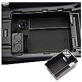 RUIYA Caja de almacenamiento para consola central Subaru XV 2 reposabrazos organizador bandeja de accesorios para coche Subaru XV, color negro