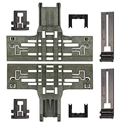 Upgraded W10546503 Dishwasher Upper Rack Adjuster & W10195840 Dishwasher Positioner & W10195839 Rack Adjuster & W10250160 Arm Clip Fit for Whirlpool & KitchenAid - Replaces W10306646 PS11756150