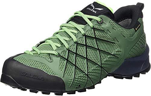 Salewa MS Wildfire Gore-TEX, Zapatos de Senderismo Hombre, Azul (Myrtle/Fluo Green), 42 EU