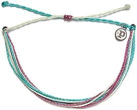 Pura Vida Jewelry Bracelets Bright Bracelet - 100% Waterproof and Handmade w/Coated Charm, Adjustable Band