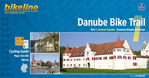 Danube Bike Trail 1: From Donaueschingen to Passau. Scale: 1.50.000. Esterbauer.
