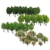 Yundxi - Confezione da 70 pezzi, 3-9 cm, modello di alberi per treno, ferroviario, Diorama Wargame, paesaggio paesaggistico HO OO Z TT multi scala