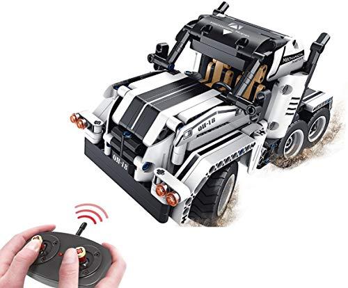 Modbrix 2,4 Ghz RC Technik Bausteine LKW Racing Truck 2in1 Konstruktionsspielzeug 379 Teile
