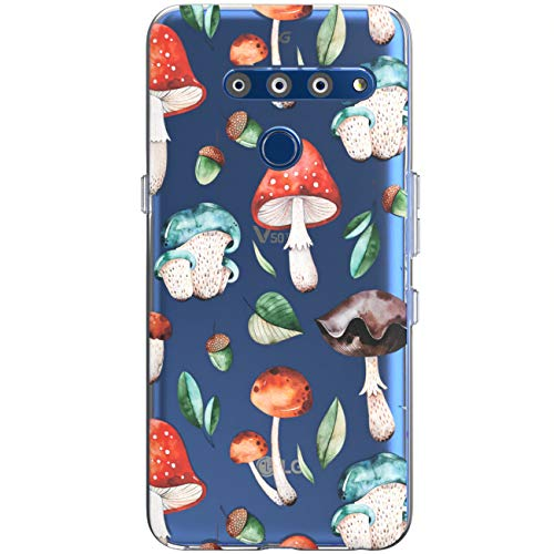 Toik Slim TPU Phone Case for LG G8 ThinkQ G7 Fit G6 V50 V40 V35 V30 Plus 10 Design Forest Girls Print Clear Watercolor Women Cover Lightweight Silicone Protective Gift Pattern Mushrooms Flexible