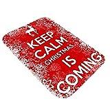 Youdong Noël Tapis de Sol Flanelle Tapis de Sol Antiderapant rectangulaire Arbre de Noël Design Tapis de Bain Tapis Noël Paillasson Antidérapante Paillassons Noël fête d'anniversaire 40x60cm