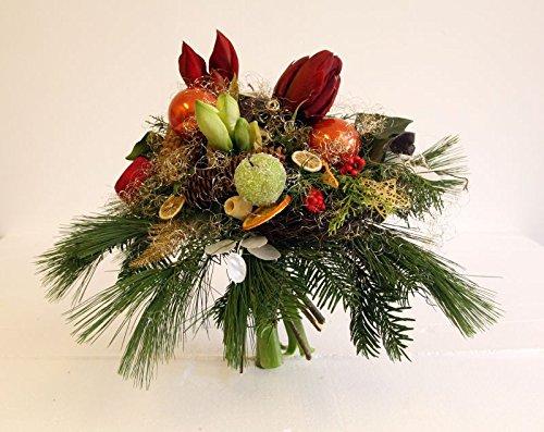 Blumenstrauß -Adventsstrauß mit Amarylles- Heiliger Abend Größe 40 Euro