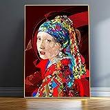 Mädchen mit Perlenohrringen imitiert Kunstdrucke und