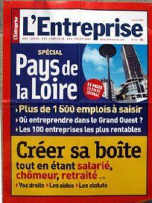 AFFICHE DE PRESSE [No 224] du 01/06/2004 - SPECIAL PAYS DE LA LOIRE - CREER SA BOITE TOUT EN ETANT ALARIE - CHOMEUR OU RETRAITE.