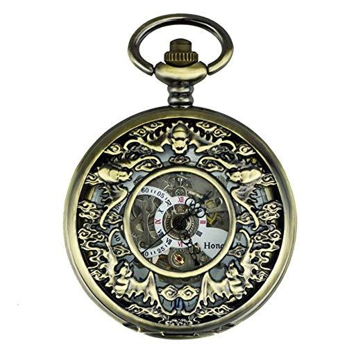 Reloj de bolsillo,reloj de bolsillo con forma de murciélago,reloj de bolsillo vintage,automático,mecánico,plegable,para...