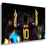 Lionel Messi Leinwandbild LaraArt Bilder Mehrfarbig