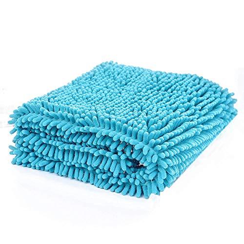 Toalla para perros de microfibra Super Shammy con mano, toallas de baño para mascotas de secado rápido ultra absorbentes para pequeños, medianos, grandes y gatos Goches Toalla empapada de secado