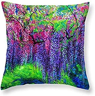 """The Wind Whispers Wisteria - 16"""" Throw Pillow"""