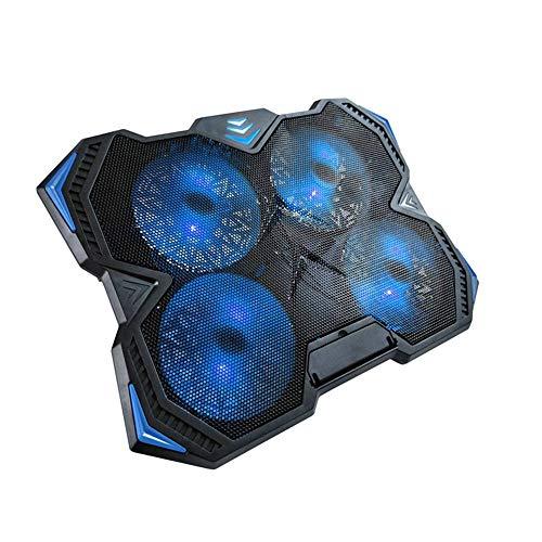 ZUIZUI Almohadilla de enfriamiento para portátil portátil Radiador portátil ajustable de elevación plegable almohadilla de enfriamiento de 17 pulgadas Ventilador Base de refrigeración radiador