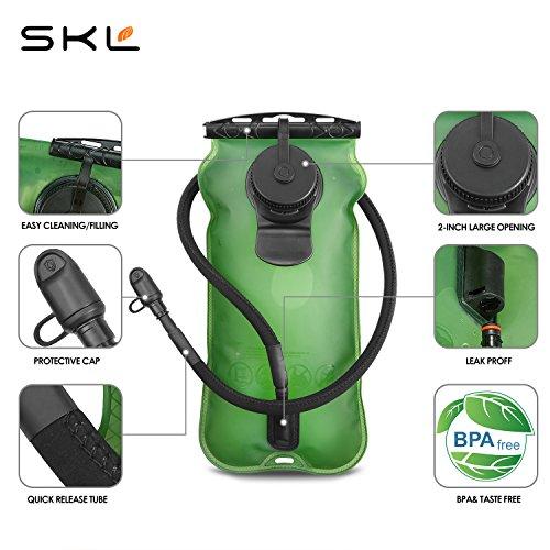 SKL 3 Liter Trinkblase Große Öffnung Wasserblase FDA Geprüfter BPA-frei Trinksystem ideal für Outdoor-Radfahren, Wandern, Laufen, Camping, Walking - 2