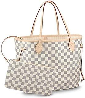 c8b8fa86f1f Neverfull Style Canvas Woman Organizer Handbag Azur Tote Shoulder Fashion  Bag MM (Medium) Size