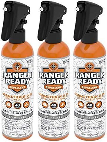 Ranger Ready Max 82% OFF Permethrin 0.5% Max 42% OFF Repellent Scent Zero Clothing-Worn