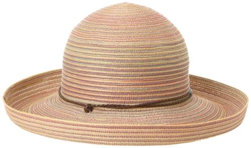 San Diego Hat Company Women's Mixed Braid Kettle Brim Hat , Rust, One Size