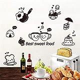 Western Sweet Food Aufkleber Vinyl DIY Wandtattoos Für Esszimmer Wasserkanal Dunstabzugshaube Wanddekoration