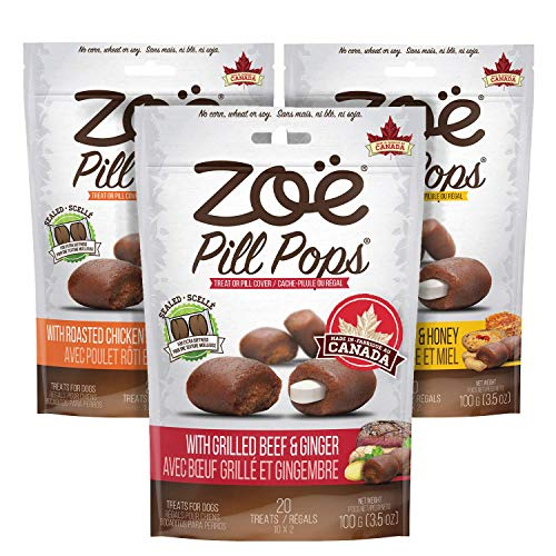 Zoë Pill Pops for Dogs, Healthy Dog Treats, All...