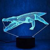 3D Light Night Lamp,Krokodil Led 3D Nachtlicht Kinder Schlafzimmer Atmosphäre Tischlampe Usb 3D Bulbing Licht Usb Tier Nachtlicht Baby Kinder Gif