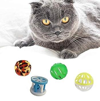 YIKEF 20 pièces Jouets Chat, Jouet pour Chat Divers Jouets interactifs,Jouets Chat Souris y Balles avec Plumes Jouets en Peluche Clochette interactifs Animaux Domestiques Toys