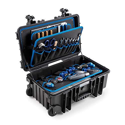 B&W International GmbH B&W Werkzeugkoffer Jumbo 6600 (Aufbewahrungsbox, Innenmaß 500x285x185 mm, schwarz, ohne Werkzeug) 117.20/P