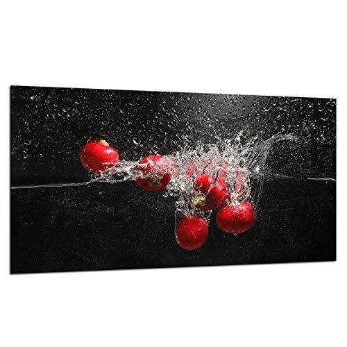 TMK - Placa protectora de vitrocerámica 90 x 52 cm 1 pieza cocina eléctrica universal para inducción, protección contra salpicaduras tabla de cortar de vidrio templado como decoración Negro