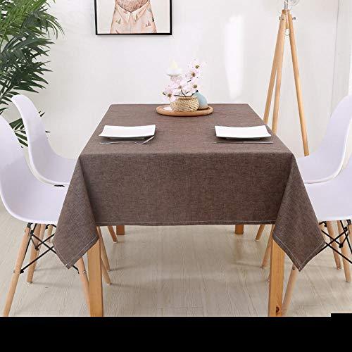 Haoxp Multifunctionele Indoor en Outdoor Tafelkleden Binnenplaats, Café, Party Home Decor voor Keuken Waterdicht tafelkleed koffietafelkleed doek picknickmat - bruin_130*130cm