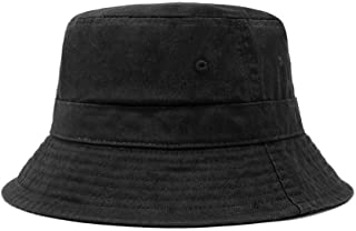 Cotton Bucket Hats Unisex Wide Brim Outdoor Summer Cap Hiking Beach Sports