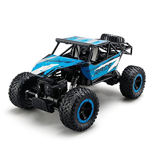 TOYEN GordVE GV005 Remote Control Cars,RC Rock Off-Road Vehicle 2.4Ghz 4WD Fast Speed Racing Cars-Blue