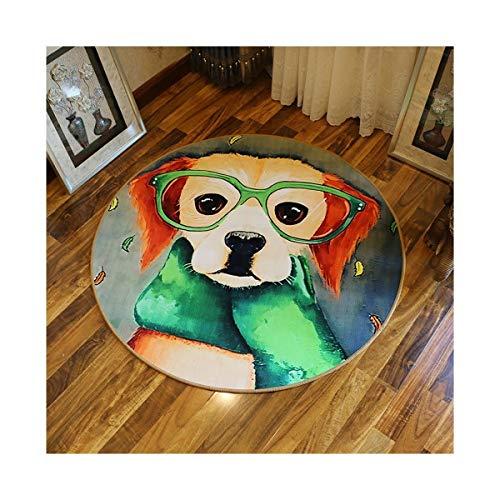 OYZK Alfombra Redonda, Redonda tapicería, Dormitorio Manta de cabecera, una Variedad de Patrones Disponibles (Color : J, Talla : 180cm)