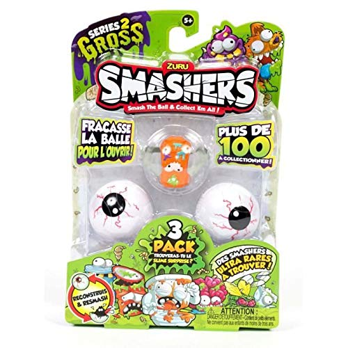 Top Media 307527 Smashers Serie 2, Blister mit 3 Kugeln, bunt