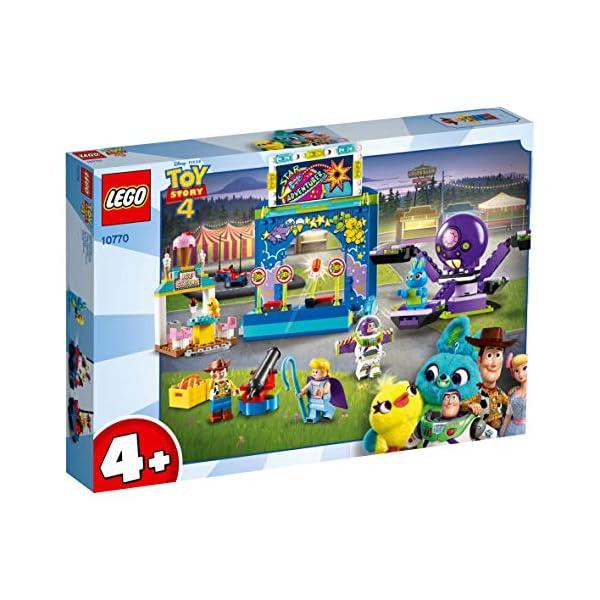 LEGO 4+ Toy Story 4 - Buzz y Woody: Locos por la Feria, Set de Construcción con Atracciones de Juguete, Incluye Minifiguras (10770)