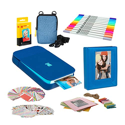 Kodak Smile Instant Digital Printer (Blue) Photo Frames Bundle