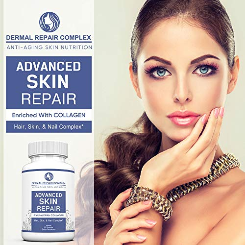 51ZtL6CPmrL - Dermal Repair Complex Skin Supplement - Advanced Collagen, Hyaluronic Acid and Vitamin C for Anti-Aging & Skin Health Support 60 Capsules
