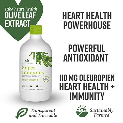 WellGrove Super Immunity Olive Leaf Extract with Heart...