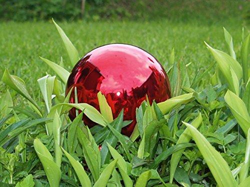 Jingle Bells Lauscha Rosenkugel/Gartenkugel rot 15cm