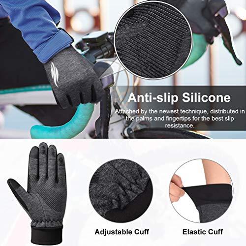 VBIGER Handschuhe Herren Winterhandschuhe Damen Winter Warme Fleece Innenfutter Touchscreen Handschuhe für Sport Outdoor Motorrad Laufen Radfahren Mountainbike… - 3
