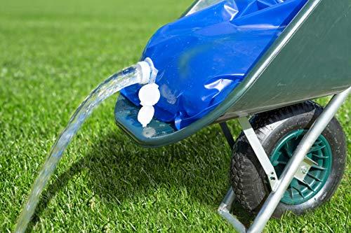 UPP Wasserbehälter für Schubkarre | Faltbarer Wassertank für effektive Gartenbewässerung, Stall & Nutztier oder BAU [80 L]