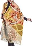 zengdou - Sciarpa invernale da donna, misura grande, con giraffa, morbida e comoda