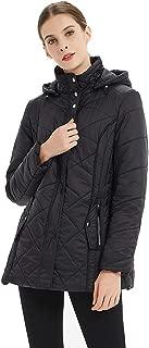Womens Outdoor Sports Military Hooded Windproof Parka Anroaks Mid-Length Jacket Coats, S-3XXL
