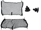 Custom Install Parts Envelope Style Rear Seat Cargo Net Set of 2 Compatible with Jeep Compass Patriot Renegade 2007-2017
