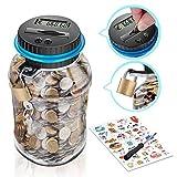 Digitale Spardose mit Münzzähler für Kinder und Erwachsene - Sparbüchse mit Zähler für Münzen...