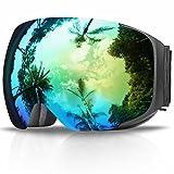 Gafas de Esquí, eDriveTech Máscara Gafas Esqui Snowboard Nieve Espejo para Hombre Mujer Adultos Juventud Jóvenes Chicos Chicas Anti Niebla Gafas de Esquiar OTG Protección UV Magnéticos Esférica Lente