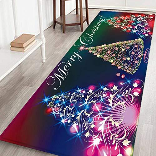 Valcatch Christmas Rug Runner 3D Caroset Carpet Door Mat for Entrance/Living Room/Bedroom/Bathroom Non slip Welcome Entrance Rug, S/M/L/XL,6 Patterns